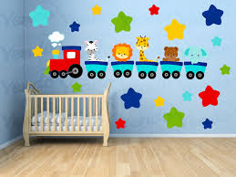 Kids Room Wall Stickers by Wall Decals For Kids Bedroom Animal Train Wall By Yendoprint