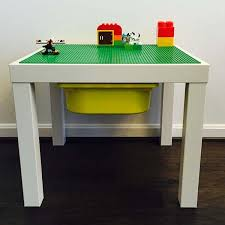 Children S Lego Table The Handmade Lego Table With Storage Bin Unleashes Your Children U0027s