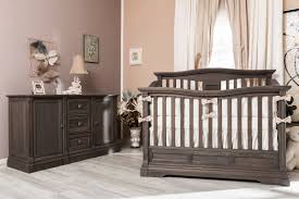 Sorelle Princeton 4 In 1 Convertible Crib With Changer by Imperio Crib And Baby Station In New Oiled Grey Finish Romina