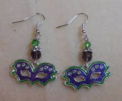 mardi gras earrings seasonal
