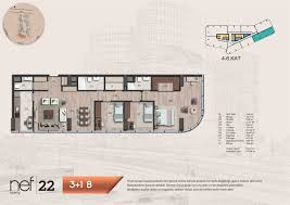 O2 Floor Plan by Atakoy Residence Istanbul Real Estate