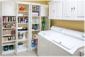 Kitchen Pantry Ideas For Small Spaces Laundry Room Trendy Laundry Room Shelving Solutions Custom Home