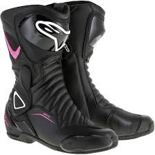 womens wide motorcycle boots alpinestars stella smx 6 v2 womens vented leather boots black pink