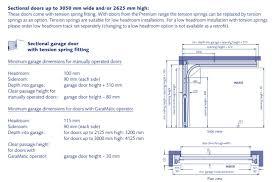garage dimensions garador linear small premium 40mm white