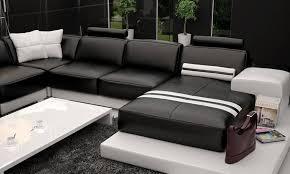 canape cuir moderne contemporain canapé en u cuir intérieur déco