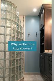Glass Block Designs For Bathrooms by Small Shower Remodeling With An Open Curved Glass Block Shower