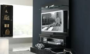 modern wall mounted tv shelves with plywood cabinet upperled mount