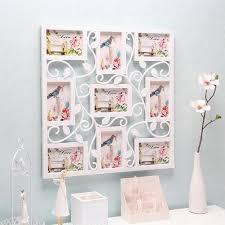 hanging home decor yazi white square plastic flower wall photo frame collage hanging