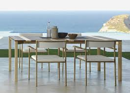 Travertine Patio Table Santafe Garden Table In Iroko Wood Idd