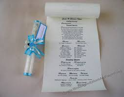 scroll wedding programs scroll wedding invitations philippines