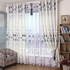 Gray Curtains For Bedroom Bedroom Best Discount White And Gray Flowers Floral Burlap Curtains