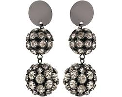 disco earrings black cabaret disco drop earrings oliver bonas