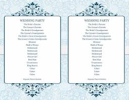 simple wedding program template 37 printable wedding program exles templates template lab