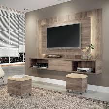 salas living room wall units conjunto sala de estar lume puff roble graffiato suede bege hb