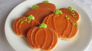 Decorated Halloween Sugar Cookies by Halloween Recipe Pumpkin Sugar Cookies Youtube