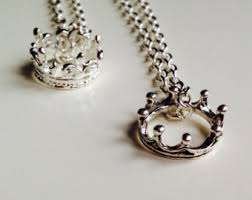 necklace silver etsy images Crown necklace etsy jpg