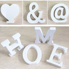 Decorating Wooden Letters Wedding Decorations Wooden Letters White Wood Alphabet Decoration