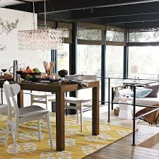 glass link chandelier via west elm 299 modern inside and out