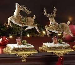 amazon com set of 2 joseph u0027s studio reindeer christmas stocking