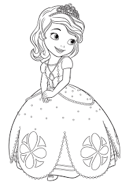 sofia the first coloring pages for girls to print free within