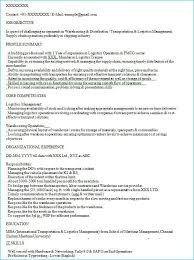 Warehouse Distribution Resume Fmcg Resume Sample Resumecv Sample Format Fmcg Work Experience
