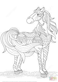 lovely horse zentangle coloring page free printable coloring pages