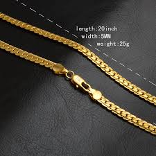 gold filled necklace set images 18k yellow solid gold filled chain necklace bracelet set 20 quot thick jpg