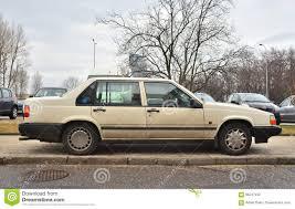 volvo sedan old swedish volvo 940 sedan car parked editorial image image