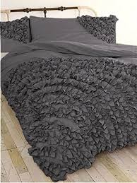 Ruffle Duvet Cover Full Hothaat Size Collection 500 Thread Count 1 Corner Ruffle Duvet