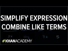 combining like terms example video khan academy