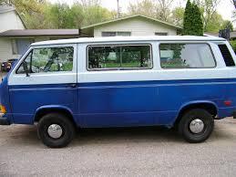 volkswagen vanagon blue vanagon