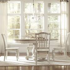 Oval Pedestal Dining Room Table Riverside Furniture Coventry Two Tone Pedestal Dining Table