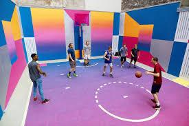 technicolor basketball court time