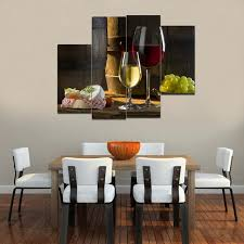 Wall Art Decor stunning oil painting of dining room wall art