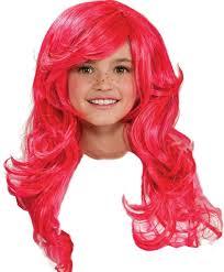 halloween city wigs amazon com strawberry shortcake child u0027s wig toys u0026 games