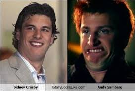 sidney crosby totally looks like andy samberg totally looks like
