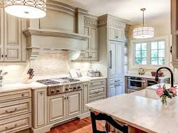 Kitchens With Cream Colored Cabinets Cream Colored Cabinets With Brown Glaze U2014 The Clayton Design