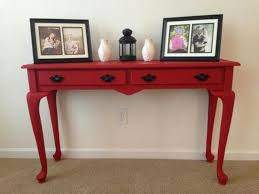 Painted Console Table Painted Console Table Makes Your Room Becomes More Attractive