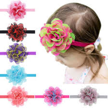 big flower headbands shop big chiffon flowers baby headband uk big chiffon flowers