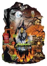halloween jigsaw puzzles for adults witch u0027s brew jigsaw puzzle puzzlewarehouse com