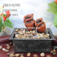 pot en fonte indoor mini fountain clay pot water fountain for home decoration