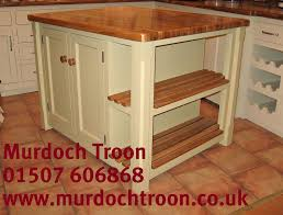 free standing kitchen islands uk murdoch troon freestanding painted pine kitchen island unit oak