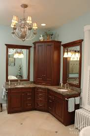 corner bathroom sink cabinet lowes pedestal for unit small vanity