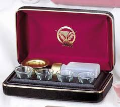 communion kits four cup portable communion set church supplies church goods