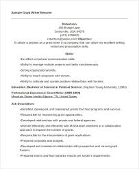 Writers Resume Sample by 8 Writer Resumes Free Sample Example Format Download Free