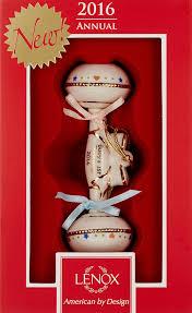 amazon com lenox 2016 baby u0027s first christmas rattle ornament