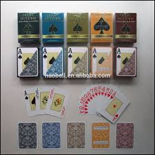 high quality custom design plastic casino poker playing cards oem