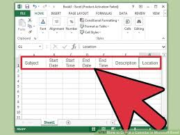 How To Put An Excel Table Into Word How To Create A Calendar In Microsoft Excel With Pictures