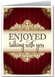 enjoyed talking with you greeting card 1235 harrison greetings