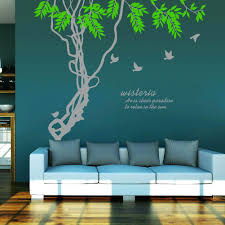 wall ideas removable wall art sticker wall art uk wall decal decal wall art uk ivy leaves tree branches birds wall art mural decor sticker wisteria wall quote decal poster home wall applique 188 x 210cm wall stickers